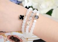 Fashion 3  multilayer clover ladies hand string bracelet