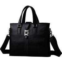 fahsion men's travel bags cowhide genuine soft leather zipper briefcase shoulder bags laptop bag business handbag