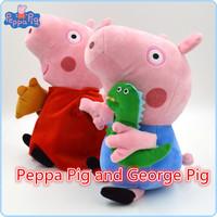2pcs/set Hot Sale 19cm Peppa Pig Pepa George Plush Kids Toy Best Quality Baby Stuffed Animals Dolls Gift