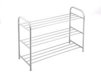 Novia Space Saving Shoe Rack and Convenience Metal Shoe Rack for Living and Bed Room 3 shelves shoe rack