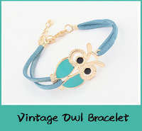 Vintage Animal Owl Design Bracelet Korean Version Retro Fashion Women Jewelry Bangles Bracelets All matched