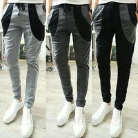 Free Shipping Men's Assorted Color Casual Slim Feet Pants Korean Fashion Jogging Dance Harem Sport Trousers Slacks