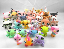 "Free shipping 10pcs / set 2.4"" Littlest Pet Shop Animals Figures Toy (10 different pieces/lot) little pet figures LPS gift(China (Mainland))"