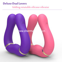 Dual motor folding vibrator full silicone rechargeable vibrator DIY shape body sex massager deluxe sex toy