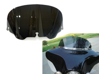 "FREE POSTAGE MOTORCYCLE ABS BLACK 8"" WINDSHIELD WINDSCREEN WIND DEFLECTORS  FOR HARLEY FLHT FLHTC FLHX TOURING"