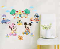 New arrival Fashion DIY Duck house stickers PVC cartoon wall sticker for kids room best home decoration 30*60cm