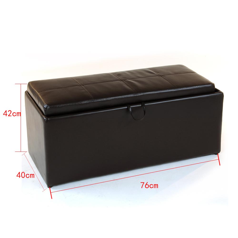 Seat Storage Bench Pouffe