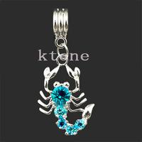 1 Piece , 2014 New Arrival 925 Silver Beads Scorpion Pendants , Fit European Pandora Charms Bracelets & Necklace,SPP036