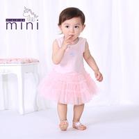 #1483012 2014 New Fashion Summer Dress Chiffon Casual Girl Dress Dot Sleeveless kids dress Cute Princess Baby dresses