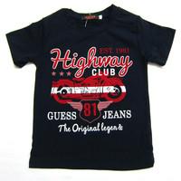 Retail  Brand  2014   New  summer  fashion  children's  shirt  letter  pattern  turn-down  collar   short  sleeve  boy's short