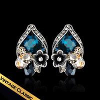 Special Earrings New Arrival Female Heart  Flowers Vintage Romantic Eardrop Free Shipping Jewelry EH14A072303