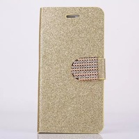 10pcs/lot NEW Bling Glitter Magnetic Flip Leather Case Cover Wallet style Stand Phone Cases For iphone6