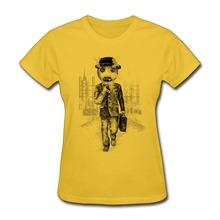 Slim Fit Womens T Shirt machine guy Print Own Short Sleeve T Shirts Women