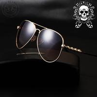 male skull sunglasses new European and American retro trend of metal sunglasses yurt wholesale