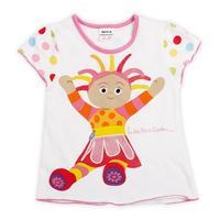 children t shirt baby in the gardon embroidery summer short T-shirt for girls girls t shirt kids short t shirt K879