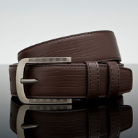 2014 Mens Genuine Real Leather Belts High Quality casual business Alloy pin Buckle Black Brown belt