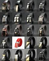 Men's casual Belt Classic fashion Design Automatic buckle leather belt men's leather strap explosion models