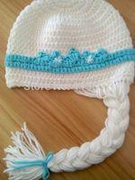 2014 hot sale new styles  handmade crochet frozen  elsa hat