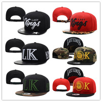 1pc/lot  2014 Hot Sale Unisex snake print Last Kings BBOY Snapback Hip Hop Cap Baseball Skateboard Hat BQ8526
