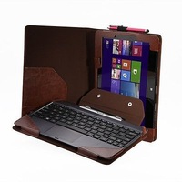 Hot Sell PU Leather Triple Keyboard Stand Case Cover For Asus Transformer Book T100TA+Pen