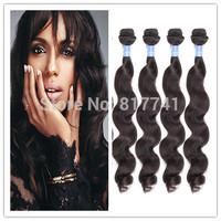 Aliexpress 6A Loose Wave100% Human Hair Extension Unprocessed Julia Queen Hair Mix 3/4 pcs Lot Brazilian Virgin Hair full bundle