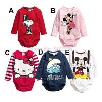Newborn Baby Romper Clothing Cotton Long Sleeve Cartoon Antumn/Spring Toddle Baby Bebe Climbing Clothing 80/90/95