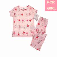 2014 Lastest Carter's Kid Girl Cotton 2-piece Summer Pajamas Suit Sleepwear Nightclothes Pyjamas 2,3,4T, YW