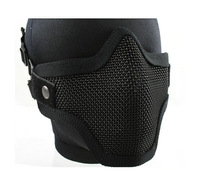 Free Shipping Tactical Hunting Metal Wire Half Face Mask Mesh Airsoft Mask Paintball Resistant