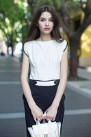 Hot show classic black and white fragrant fashion major suit color one-piece jumpsuits Qiqi home