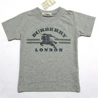 Retail  Brand  2014   New  summer fashion  children's shirt Horse galloping  O-Neck   short  sleeve  boy's short free shipping