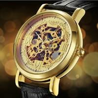 Mens Skeleton dress kassaw watch Man relogio masculino fashion Wathces Men Sapphire Military Luxury Gold Hours Original Brand