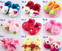 handmade crochet knitted owl piggy cat flower baby shoes boots  infant new born first walker shoes homewear