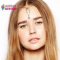 2014 fashion beautiful stylish faux stone cutout flower pendant head clips hair accessories jewelry for women bijoux wholesale