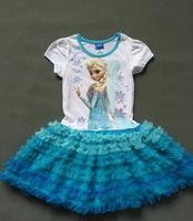 girls  frozen clothing dresschildren frozen elsa  summer  clothes TUTU dresses girl dress princess
