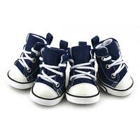 4PCS Puppy Pet Dogs Denim Shoes Sport Boots Anti-slip Bootie Walk Causal Sneaker Free&DropShipping