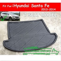 Details about  FIT FOR 2013 2014 HYUNDAI SANTA FE 7 REAR TRUNK TRAY BOOT LINER CARGO FLOOR MAT