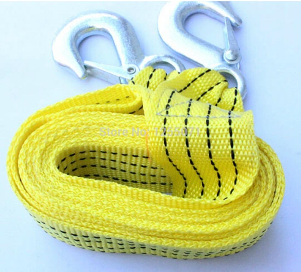 3m length car Nylon tow rope capacity 3Tons 5cm width(China (Mainland))