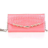 Free shipping2014New Hot Brand Large capacity Fashion good quality women Patent leather Messenger Wallet Cheap wholesale