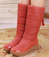 New 2014 Autumn Winter Hot sale Women's shoes Snow boots Platform High heels Tassel Patchwork Fashion Sexy Warm Flats QH3246