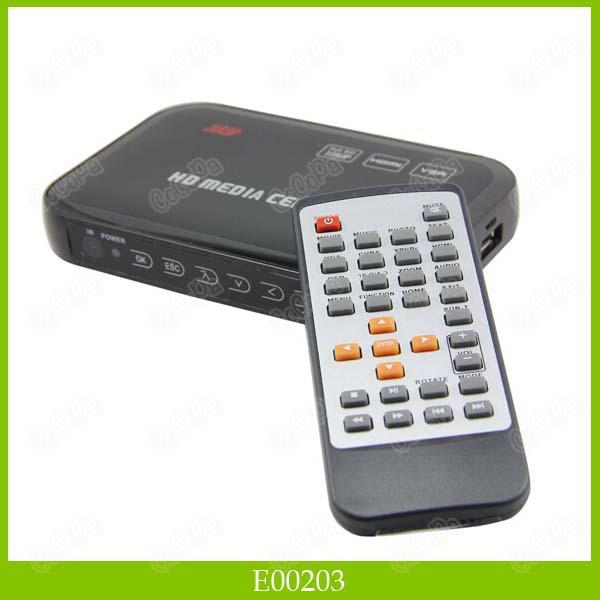 Full HD 1080P Media Player Center HD Media Player With HDMI VGA YPbPr & CVBS 10PCS/LOT DHL Free Shipping(China (Mainland))