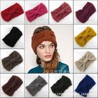 New Autumn women hairband winter braided woolen hairbands headwear hat