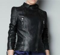 Free shipping 2014 news autumn women short Leather jacket slim PU motorcycle jackets ladies outwear coats l1266