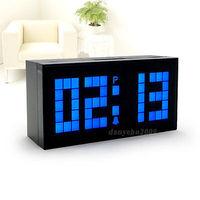 Digital Large Big Jumbo LED Snooze Calendar with Temp Wall Desk Alarm LED Clock
