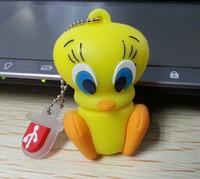 1pcs Tweety Bird Cartoon usb flash memory stick 4GB 8GB 16GB 32GB USB Flash Drive Fashion PVC gfit Pen drive free shipping