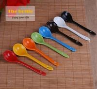 Wholesale Multicolour candy color ceramic soup spoon,Porcelain soup spoons freeshipping.