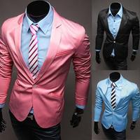 2014 New Design Mens Blazer Jacket Coats,Casual Slim Fit Stylish Blazers For Men,Plus Size M~XXL,3 Colors,Free ShippingPX32