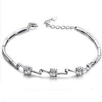 AAA 100% Sterling Silver 925 Jewelry Bracelets & Bangles Swiss Super Flash Amethyst Bracelet Free Shipping