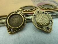 20pcs 16*20mm-10mm Antique bronze Cameo Cabochon Base Setting Charm Pendant Alloy DIY jewelry accessories Free shipping C3127