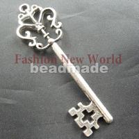 Free shiping!!!Wholes 75pcs key shape silver alloy Pendant jewelry fashion charms T2508