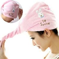 Dry hair hat cartoon for rabbit dry hair hat shower cap ultrafine fiber dry hair hat dry hair towel